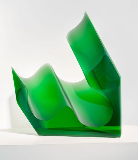 Green Glass Sculpture by Petr Hora